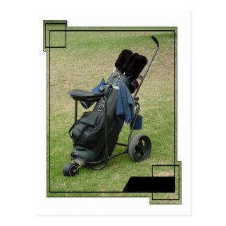 Postal del bolso del carro de golf