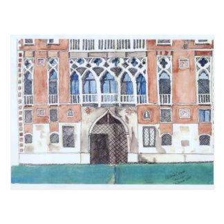 Postal del bosquejo de Venecia