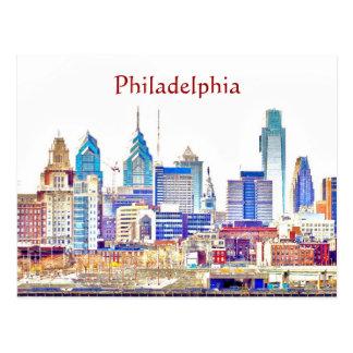 Postal del bosquejo del color de Philadelphia