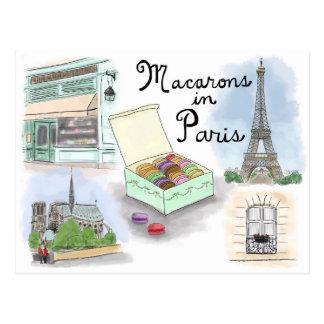 Postal del bosquejo del viaje: Macarons en París