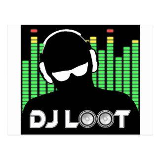 Postal del botín de DJ