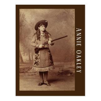 Postal del buen tirador de Annie Oakley