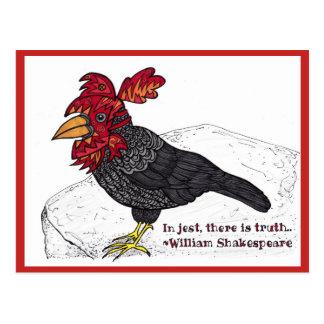Postal del bufón del cuervo