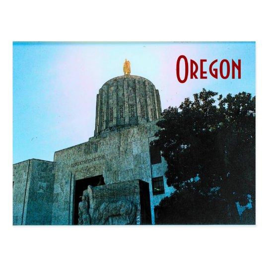 Postal del capitolio de Oregon