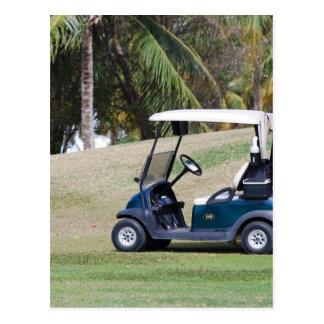 Postal del carro de golf
