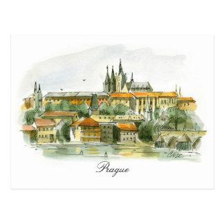 Postal del castillo de Praga