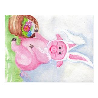 Postal del cerdo de Pascua