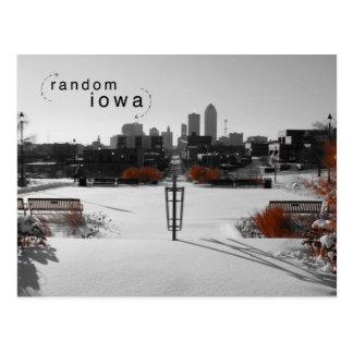 Postal del chapoteo del color de Des Moines Iowa