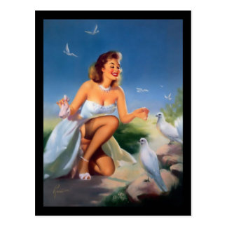 postal del chica del Pin-para arriba de los años