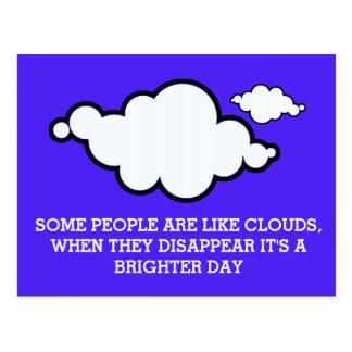 Postal del chiste de la nube