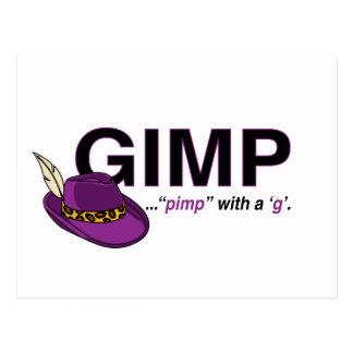 Postal del chulo del Gimp