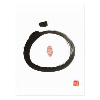 Postal del círculo del zen