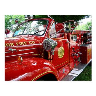 Postal del coche de bomberos….