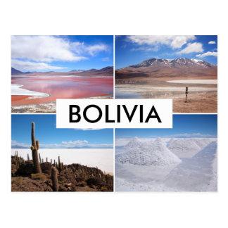 Postal del collage de Bolivia Salar de Uyuni