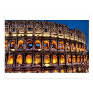 Postal Del Colosseum romano con amor