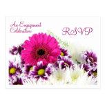 Postal del compromiso/del boda de RSVP