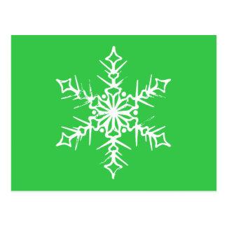 Postal del copo de nieve de la acción de gracias y