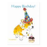 Postal del Corgi del feliz cumpleaños