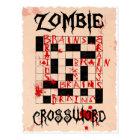 Postal del crucigrama del zombi