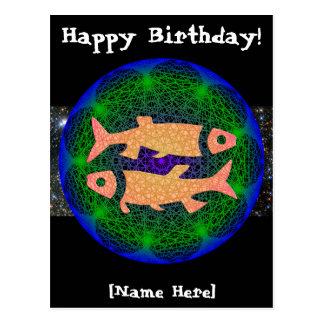 Postal del cumpleaños de Piscis