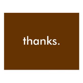 postal del de agradecimiento