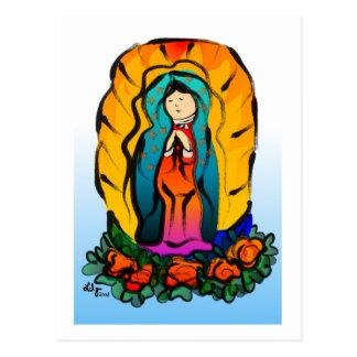 Postal del de Guadalupe de la Virgen del La