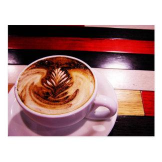 Postal del descanso para tomar café