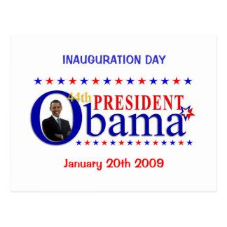Postal del día de inauguración de Obama