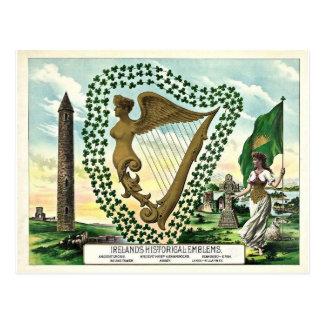 Postal del día de Irlanda St Patrick histórico