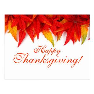 Postal del día de la acción de gracias