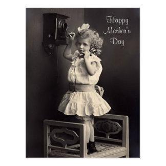Postal del día de madre del vintage