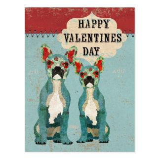 Postal del día de San Valentín de los dogos france