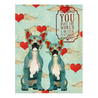 Postal del día de San Valentín del corazón de los