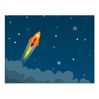 Postal del dibujo de Rocket