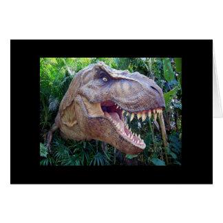 Postal del dinosaurio tarjeta de felicitación
