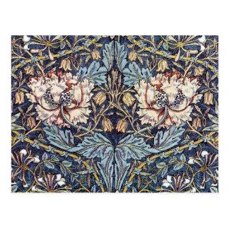 Postal del diseño de la materia textil de la