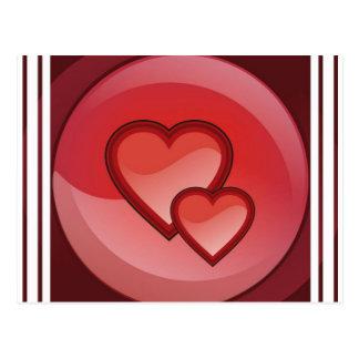 Postal del diseño del corazón