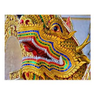 Postal del dragón de Wat Oopakoot
