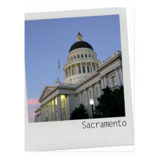 Postal del edificio del capitolio de Sacramento Ca