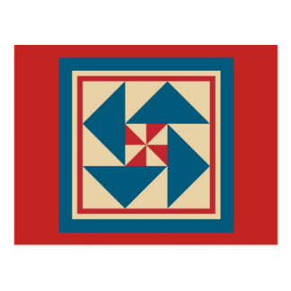 Postal del edredón - vuelta patriótica (roja)