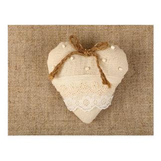 Postal del el día de San Valentín con el corazón