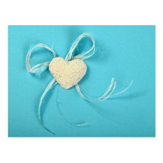 Postal del el día de San Valentín con un corazón