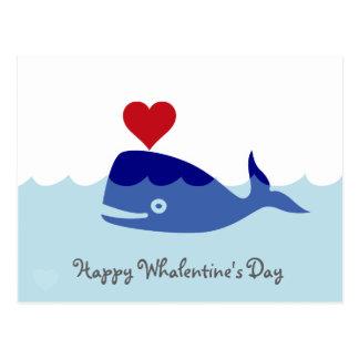 Postal del el día de San Valentín de la ballena