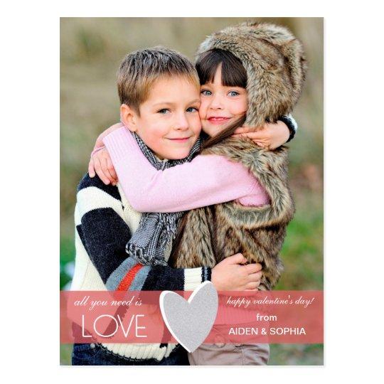 Postal del el día de San Valentín del amor del