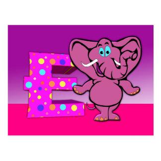 Postal del elefante del ilustracion