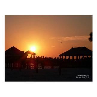 Postal del embarcadero de la playa de Clearwater
