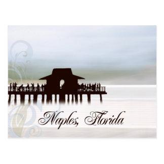 Postal del embarcadero de Nápoles