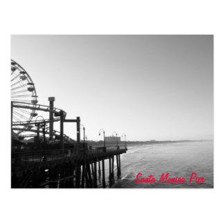 Postal del embarcadero de Santa Mónica