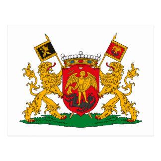 Postal del escudo de armas de Bruselas