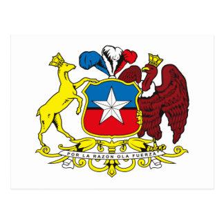 Postal del escudo de armas de Chile